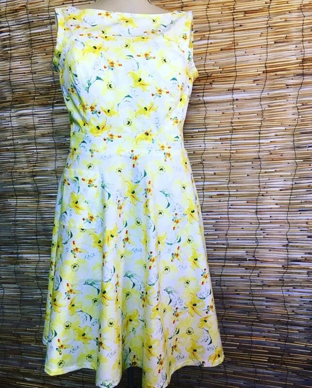 HAZELNUTT CLOTHING SUNSHINE YELLOW SUNDRESS