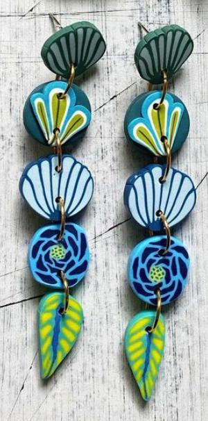KAORI LAYERED FLORAL BLUE DROPS