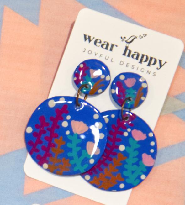 WEAR HAPPY JOYFUL DESIGNS EARRINGS