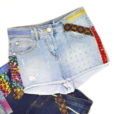 Romas Boutique Retro Shorts - Light Denim Size 6-8