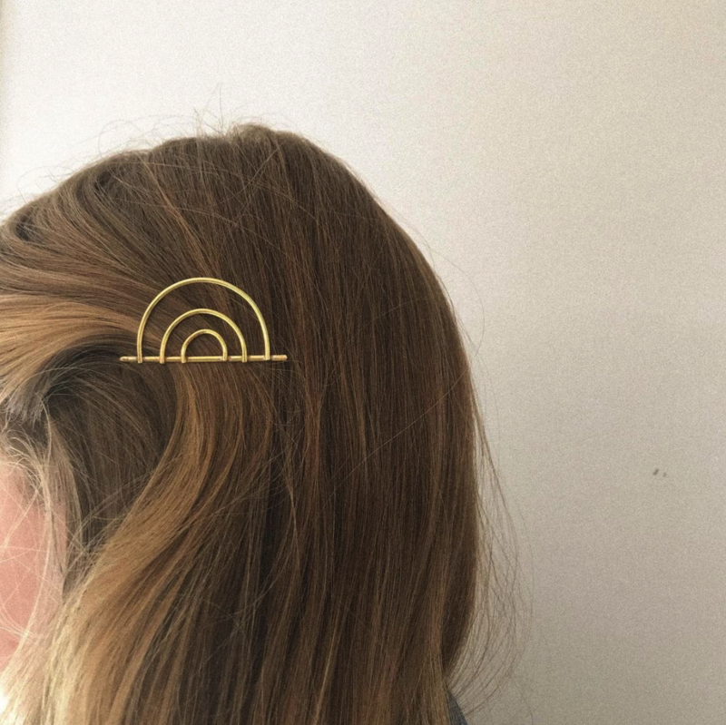 Just Mono Brass Bobby Pin Hair Clip