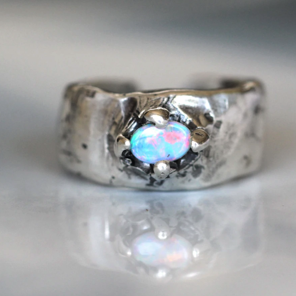 JUX OPAL CLAW RING SIZE O
