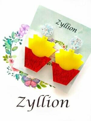 ZYLLION Fries Dangle Earrings
