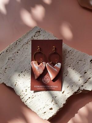 EVERGREEN AURORA STUD LOVE HEART