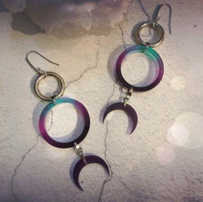 Arc & Ether Celestial Crescent Earrings