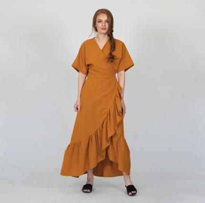 CHERLYN CLOTHING AMELIA LOVE DRESS MUSTARD - ONE SIZE