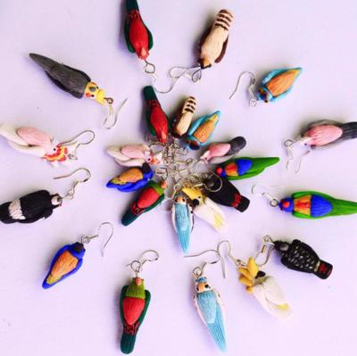ALEJA HINE BIRD EARRINGS - ASSORTED
