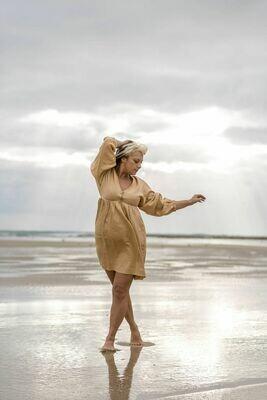 CARLABELLA JANE DRESS NATURAL SIZE LARGE/14