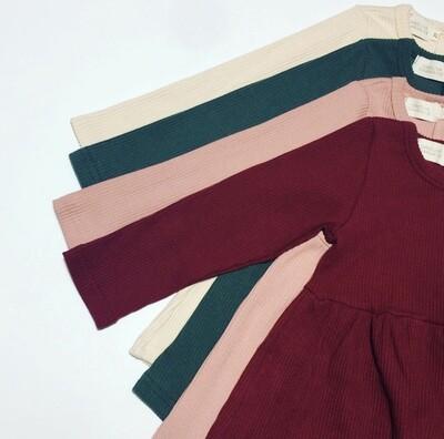CAROLINE CHARMAINE - Victoria Winter Dress - Wine