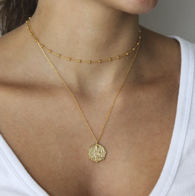 THE JEWELLERY TREE - Esme Antique Coin Necklace - Gold