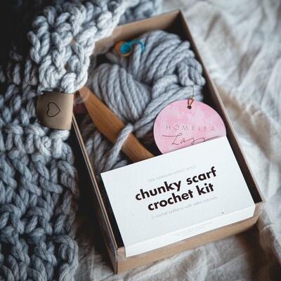 HOMELEALASS - CHUNKY SCARF CROCHET KITS