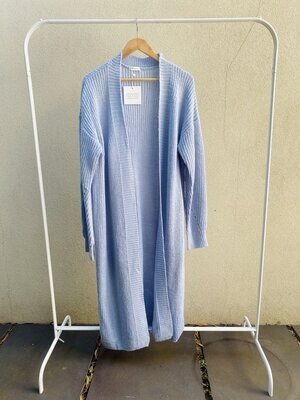 THE ONLY LABEL- WORK FROM HOME CARDIGAN IN BLUE