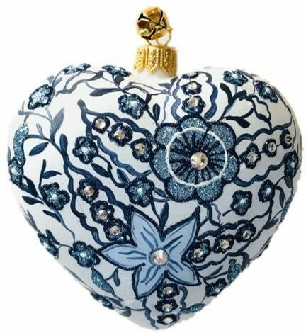 True Blue Heart Ornament