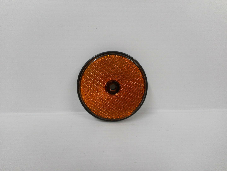Catadiottro tondo arancio forato rimorchio