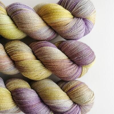 Olive Violet Potluck Merino/Silke Lace