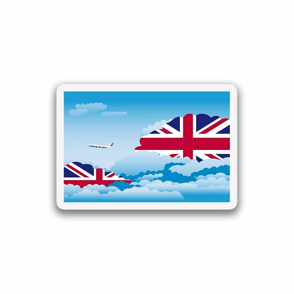 World Flags Day Clouds Sticker