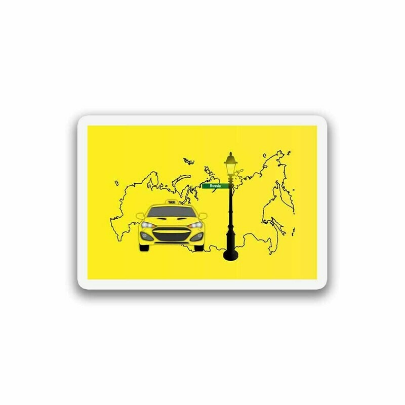 World Yellow Taxi Sticker
