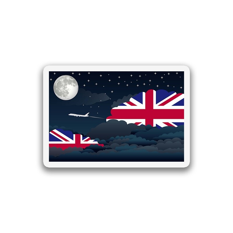 World Flags Night Clouds Sticker