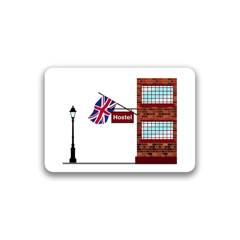 World Flag Hostels Sticker