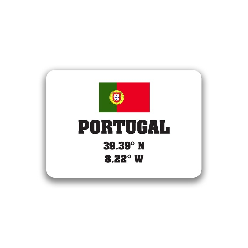 World Flag Latitude Longitude Sticker