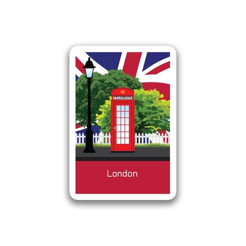City Red Telephone Sticker