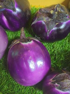 Eggplant - round purple, Hlubik's