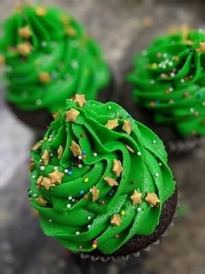Christmas Tree Cupcakes, 1/2 Dozen