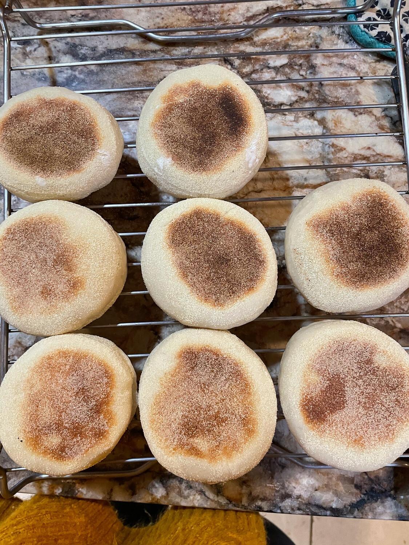 Sourdough English Muffins - 1/2 Dozen