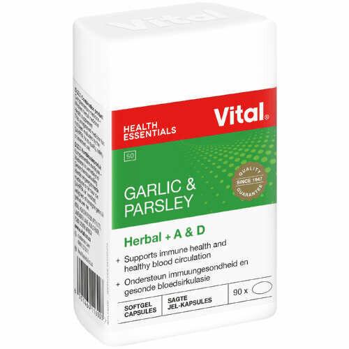 Vital Garlic & Parsley capsules for blood circulation 90's
