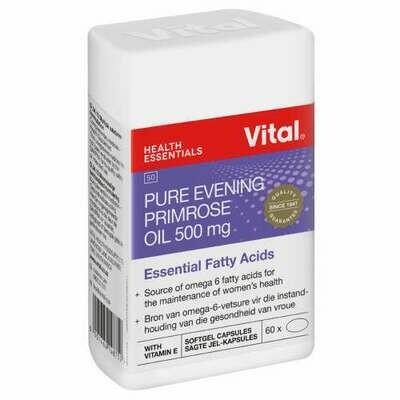 Vital Evening Primrose oil 500mg softgel capsules 60's