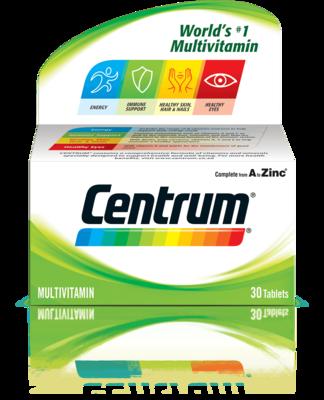 Centrum A-Z tablets 30's