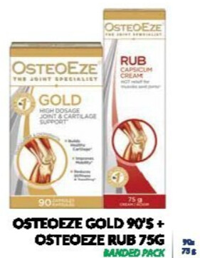 Osteoeze capsules 90's + capsicum rub 75g