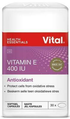 Vital Vitamin E softgel capsules 60's