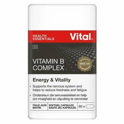 Vital Vitamin B complex softgel capsules 60's