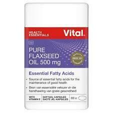 Vital Flaxseed oil 500mg capsules (60)