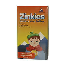 Zinkies Lollies Apple & Berry flavours 10s