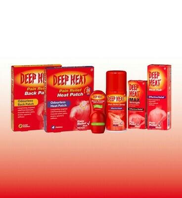 Deep Heat range