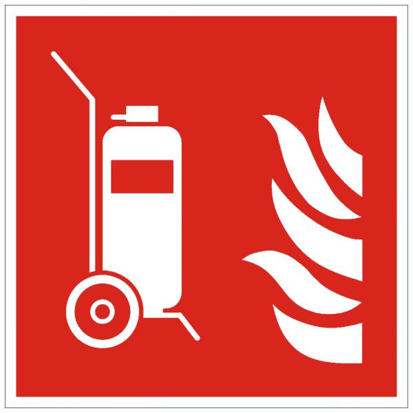 Symbol Feuerlöscher fahrbar ISO 7010