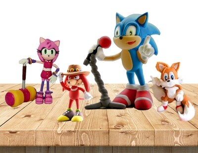 Sonic the Hedgehog Clay Art