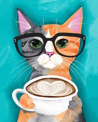 Coffee break with a Kitty