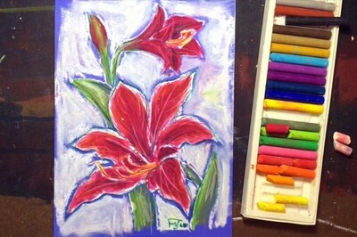 Oil pastel painting for serious beginners I (60 mins x 6 classes)