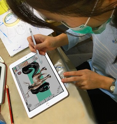 Digital sketch & painting on the tablet/iPad