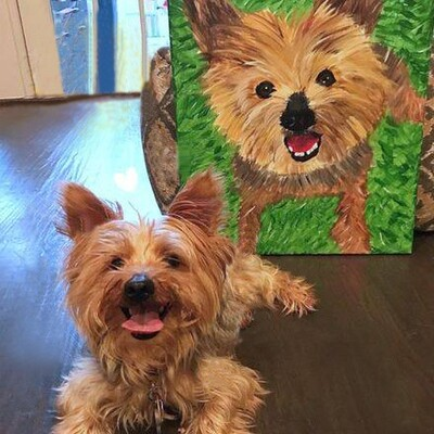 Paint-your-own Pet from a photo/ 9 years+