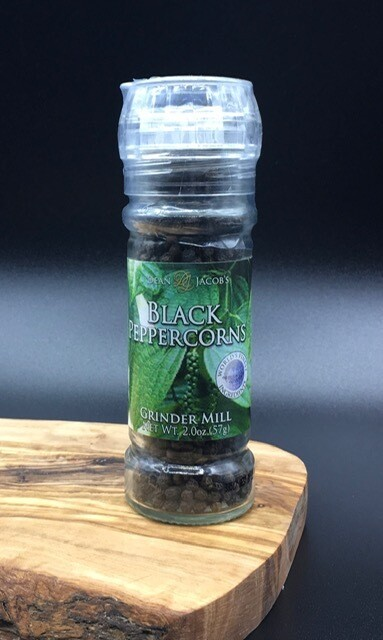 Black Peppercorns Mill