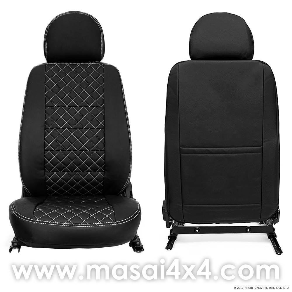 Front Seat Covers for Land Rover Defender Puma/TDCi (2007-2016) DELUXE DIAMOND - PAIR