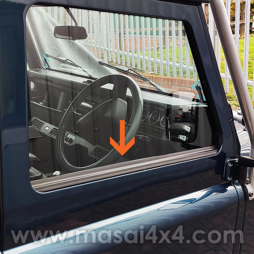 Front Door Outer Waist Seal for Defender 90/110 (Fits both sides)