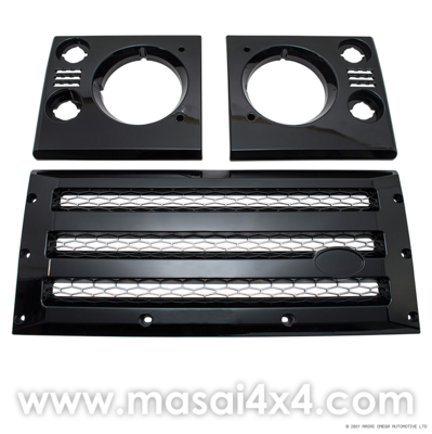 Front XS Grille & Headlamp Surround Set (Black with Silver Mesh/ Silver with Black Mesh)