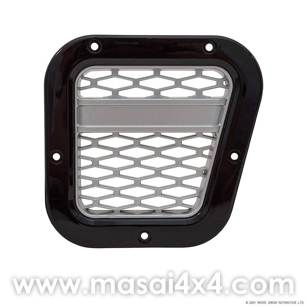 XS Style Intake Grille - Right Hand Side - (Black with Silver Mesh/ Silver with Black Mesh)