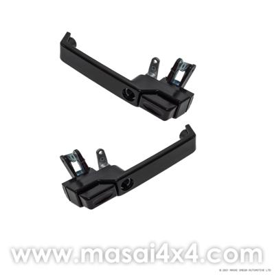 XS Style Door Handle Kit - Pair - (Gloss Black/ Silver/ Brunel Grey)
