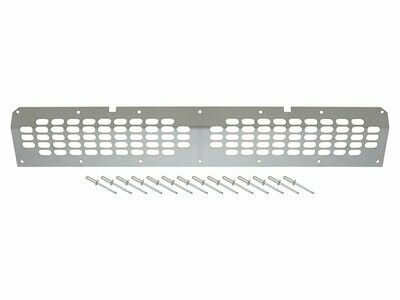 Lower Front Grille for Defender with Air Con - Stainless Steel